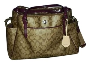 Coach Purple Brown Diaper Bag