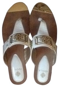 Isola White With Gold Accents Sandals