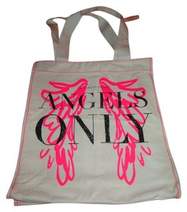 Victoria's Secret Canvas Tote in Cream