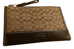 Coach Coach zip coin purse with side pocket