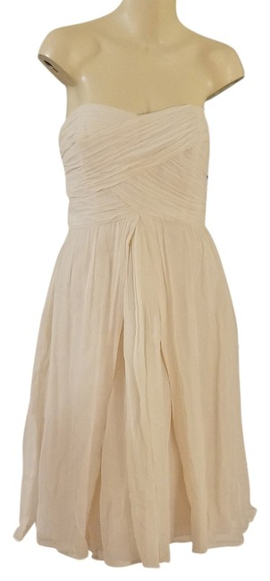 Preload https://item3.tradesy.com/images/melissa-sweet-ivory-ruched-silk-chiffon-strapless-bridal-formal-party-short-cocktail-dress-size-12-l-5038312-0-0.jpg?width=400&height=650