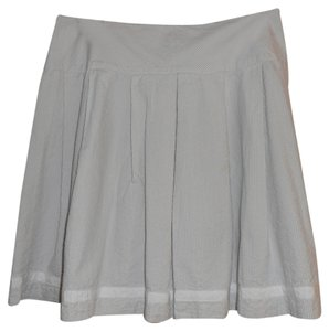 Calvin Klein Ck Seersucker Summer Skirt White/Grey