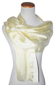 Moschino AUTHENTIC MOSCHINO CHEAP AND CHIC YELLOW ITALY WOMEN OBOLONG SCARF