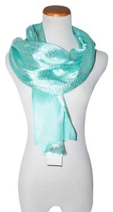 Moschino AUTHENTIC MOSCHINO CHEAP AND CHIC BLUE ITALY WOMEN OBOLONG SCARF