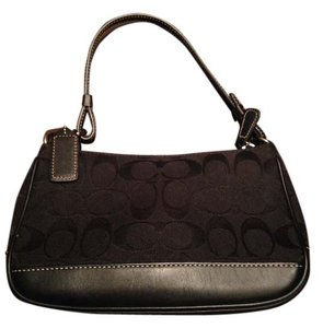 Coach Minibag Signature Leather Canvas Satchel in Black - item med img