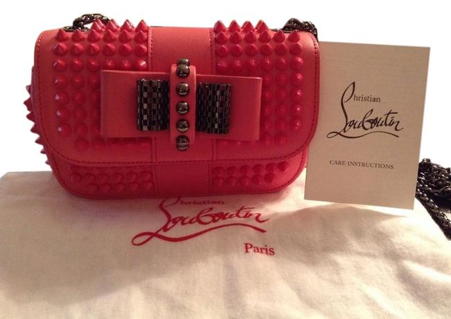 Item - Shoulder Sweet Charity Studded Hot Pink Leather Cross Body Bag