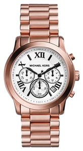 Michael Kors Michael Kors Women's Chronograph Cooper Rose Gold-Tone Stainless Steel Bracelet Watch 39mm MK5929