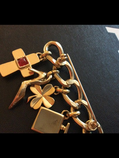 Chanel CHANEL RARE STAMPED '02P GRIPOIX GOLDTONE CHARM BROOCH