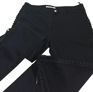 Dior Limited Edition Lace Up Unique Rare Boot Cut Pants Black