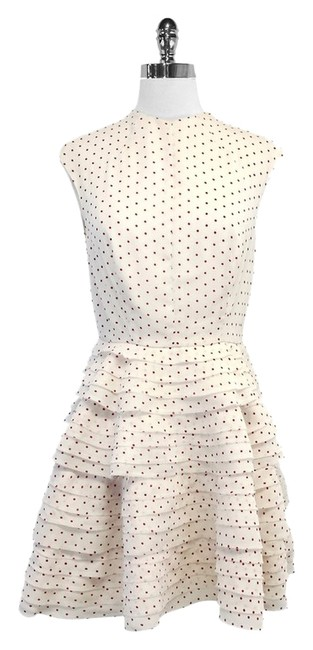 Preload https://item2.tradesy.com/images/camilla-and-marc-ivory-and-red-polka-dot-tiered-mid-length-short-casual-dress-size-6-s-5040631-0-0.jpg?width=400&height=650