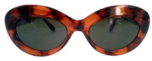 Vtg Rounded edges Cat eye sunglasses Tortoise shell DEAD STOCK