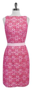 Lilly Pulitzer short dress Eyelet Floral Cotton Sleeveless on Tradesy