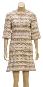 Chanel short dress Beige Multicolor on Tradesy
