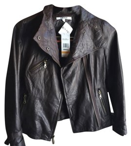 DKNY Chocolate brown Leather Jacket
