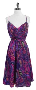 Trina Turk short dress Paisley Silk Spaghetti Strap on Tradesy