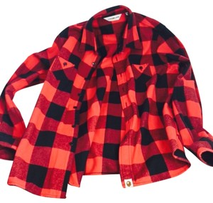 A Bathing Ape Button Down Shirt red