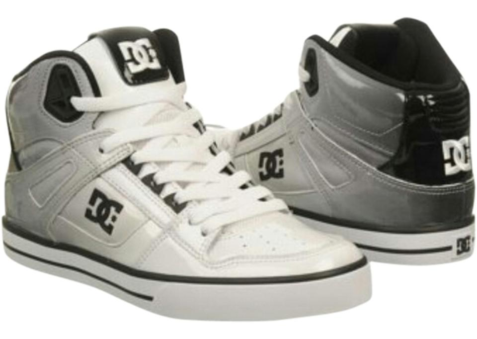 a3bbbeceac4b DC Shoes Men s Spartan High Wc Se White Black Ombre Patent Skate Sneakers
