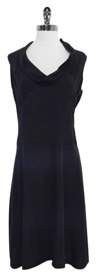6f17937e11 Cacharel Black Silk Sleeveless Mid-length Short Casual Dress Size 6 ...