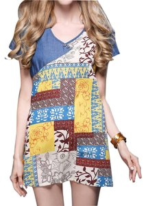 Other short dress Mosaic Print Brand New Short Sleeve Summer on Tradesy