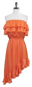 Haute Hippie short dress Silk Ruffled Strapless on Tradesy