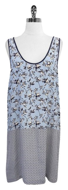 Preload https://item5.tradesy.com/images/joie-blue-and-ivory-print-silk-sleeveless-knee-length-short-casual-dress-size-12-l-5042254-0-0.jpg?width=400&height=650