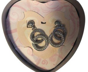 Brighton Brighton Double Circle Hanging Earrings-New with Tin
