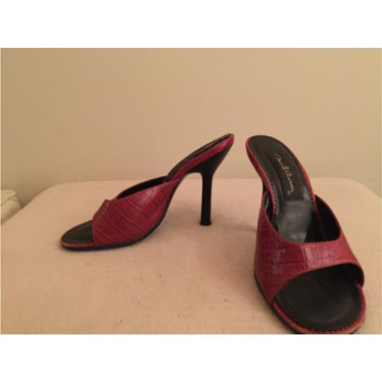 David Aaron Red Pumps