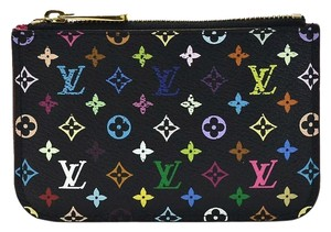 Louis Vuitton Authentic Louis Vuitton Multicolore Monogram Noir Cles Coin Purse with Grenade Interior