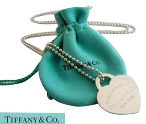 Tiffany & Co. Tiffany Silver Large Huge Heart Dog Tag Chain Necklace