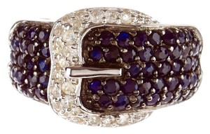 Phillip Gavriel New! Phillip Gavriel Blue and White Sapphire Buckle Ring, size 9, L or XL