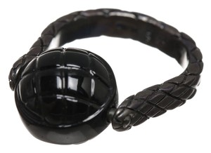 Bottega Veneta Bottega Veneta Black Spinning Ball Ring (Size 7)