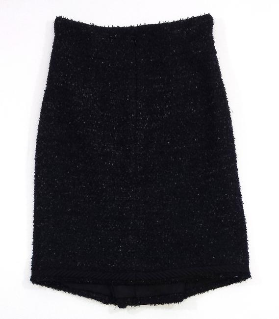 Chanel Textured Wool Blend Skirt
