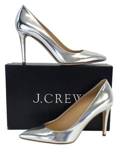 J.Crew Mirror Metallic Silver Pumps
