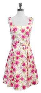 Teri Jon short dress Floral Print Cotton on Tradesy