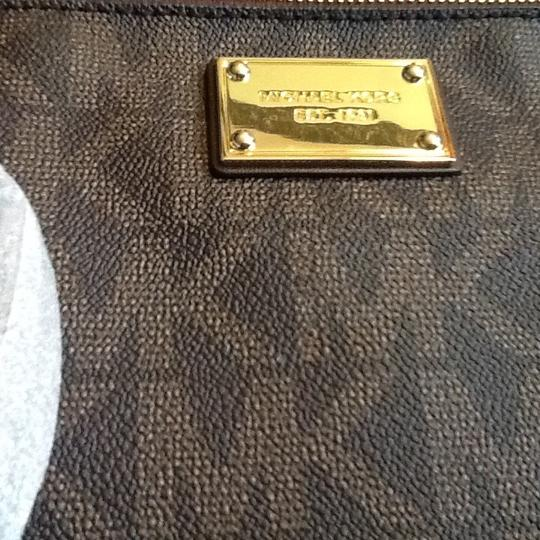 Other Michael Kors Large Clutch Wristlet Brown Signature