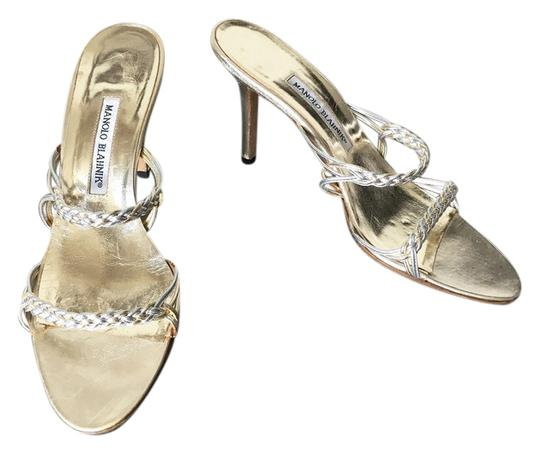 Preload https://item1.tradesy.com/images/manolo-blahnik-gold-and-silver-braided-strap-sandals-size-us-105-regular-m-b-5046535-0-0.jpg?width=440&height=440
