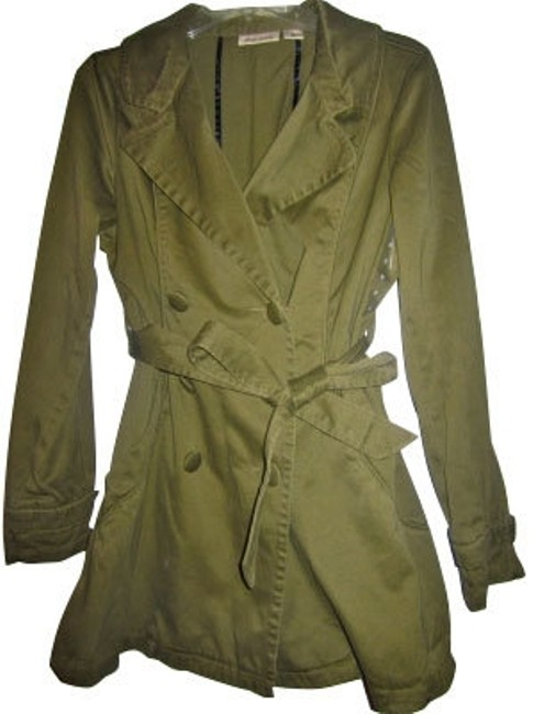Preload https://item1.tradesy.com/images/dkny-green-army-style-mid-length-trench-coat-miltary-jacket-size-8-m-5055-0-0.jpg?width=400&height=650