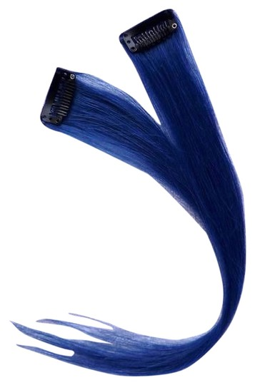 HAIR COLLECTIONS HUMAN HAIR CLIP ON EXTENSIONS BLUE