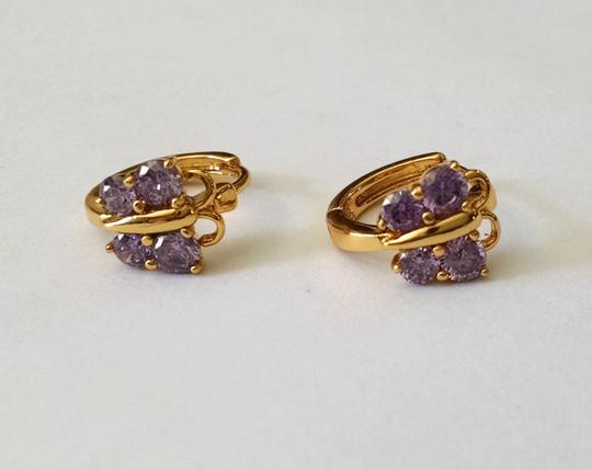 Other New 14K Gold Filled Cubic Zirconia Butterfly Small Hoop Earrings J1117