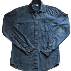 American Apparel Button Down Shirt Dark wash indigo