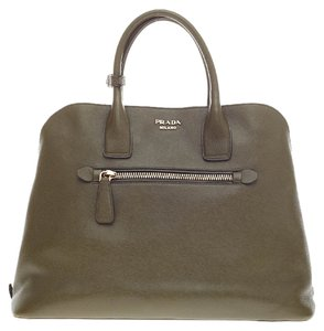 Prada Leather Olivegreen Tote