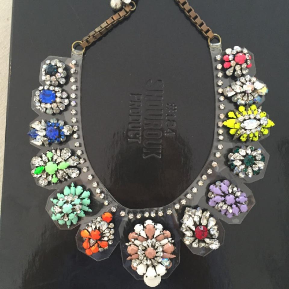 multi necklace crystal large mutli moda loading shourouk zulu operandi by and sequin