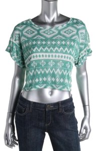 One Clothing Top Jade/ White