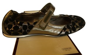 Coach Black/Gunmetal Flats