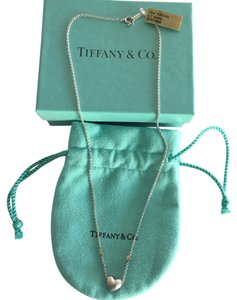 Tiffany & Co. STEAL MUST SEE - Tiffany 18k White Gold Heart Diamond Necklace With Box And Original Pouch