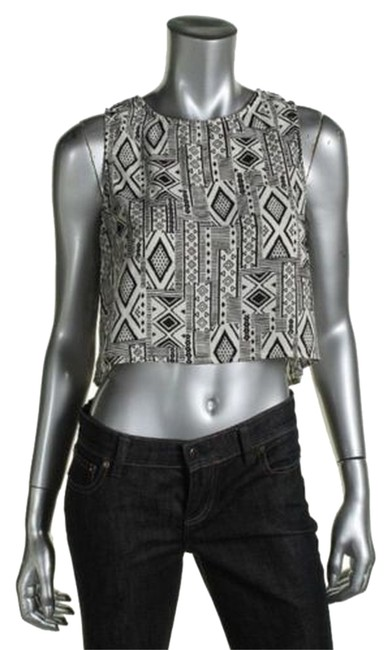 One Clothing Top Ivory and Black