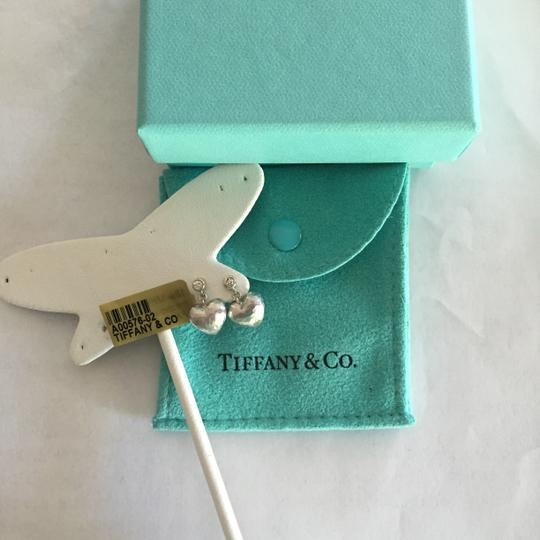 Tiffany & Co. Tiffany & Co 18k White Gold Diamond Heart Earrings with original box and pouch