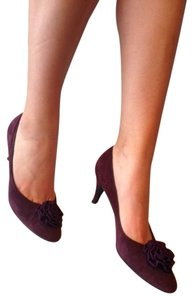 I. MAGNIN & co. MADE IN ITALY PLUM SOFT NAP Pumps
