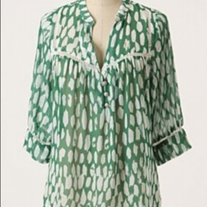 Dolan Flowy Anthropologie Top Green