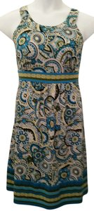 Apt. 9 short dress Blue paisley print on Tradesy
